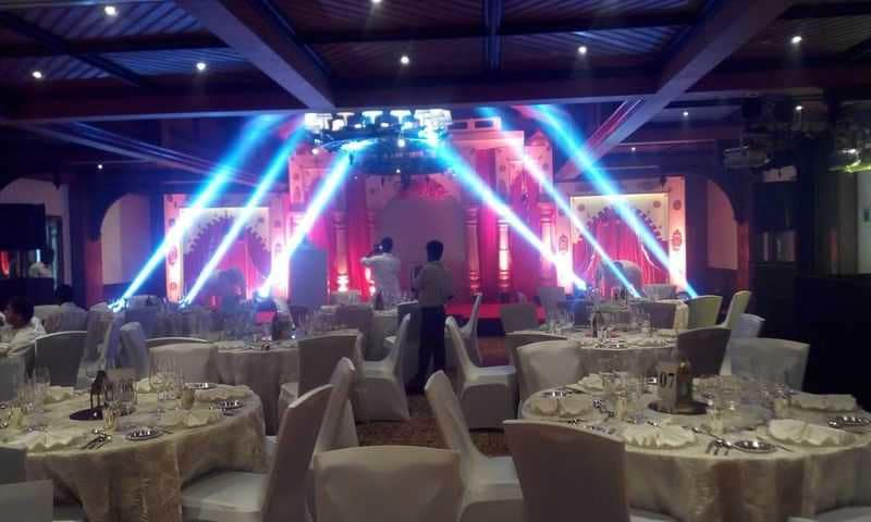 Stage & Table arrangements for Corporate Event